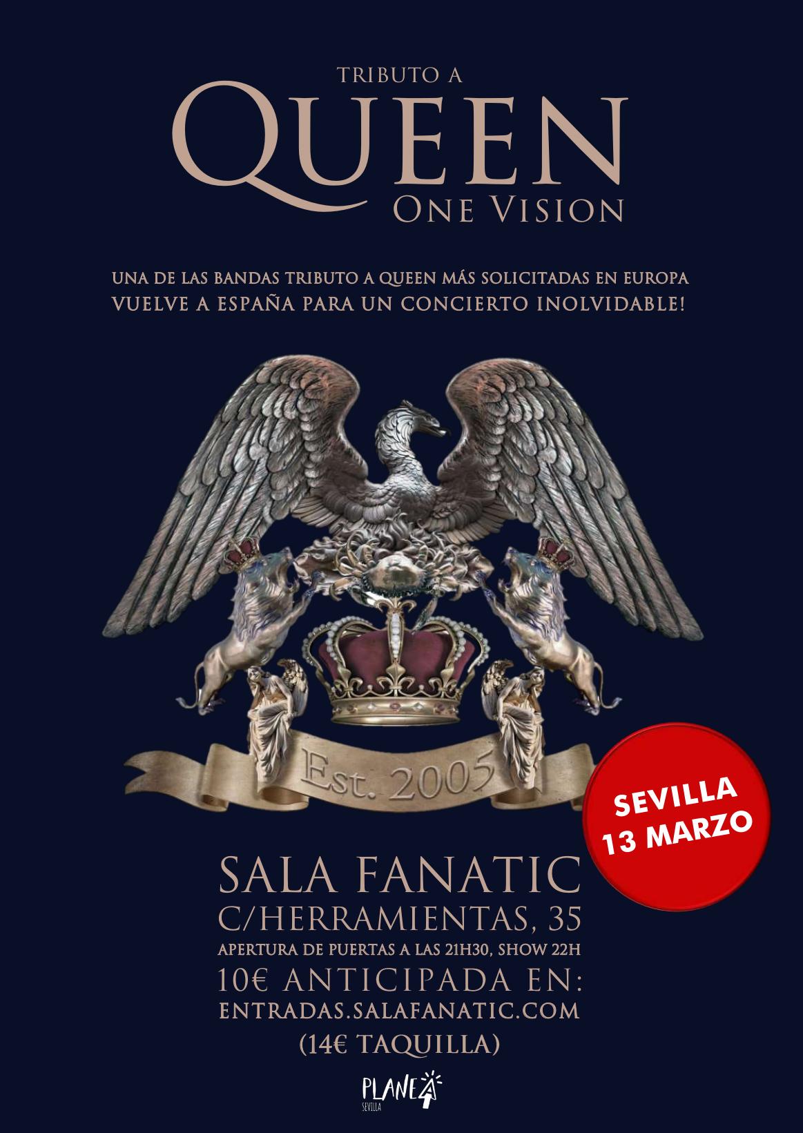 ONE VISION – ¡El tributo a Queen! APLAZADO NOVIEMBRE