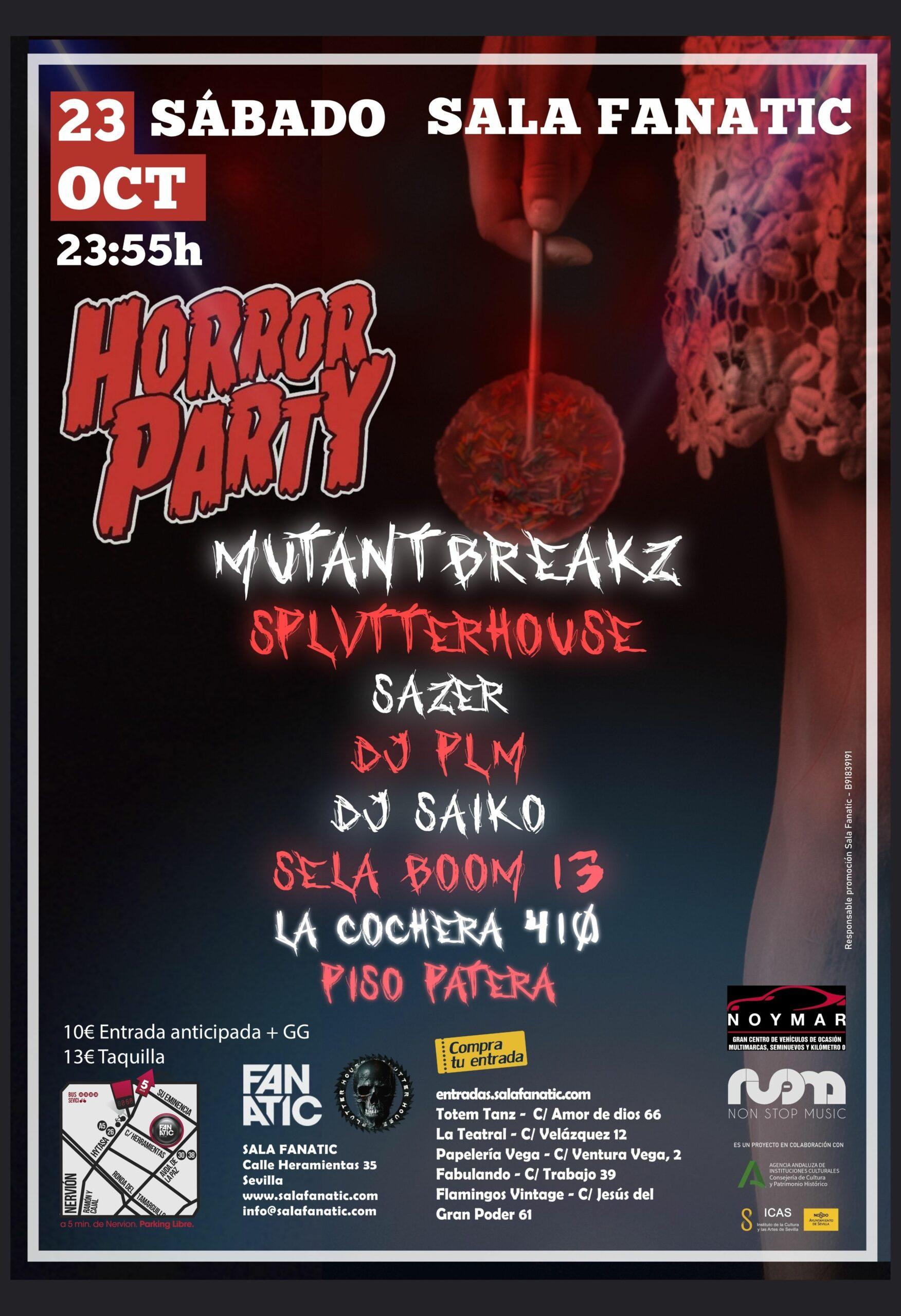 Horror Party fiesta halloween en Sevilla